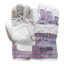Werkhandschoen Oxxa rundsplitlederen Amerikaantje met palmversterking maat 10