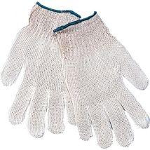 Werkhandschoen M-Safe Rongebreide polyester/katoen Wit - maat 7-9