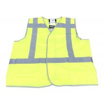 Veiligheidsvest M-Wear 0175 fluo geel met RWS-strepen maat M/L