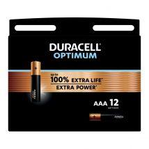 Duracell Batterijen Optimum AAA - Blister van 12 stuks