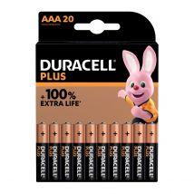 Duracell Batterijen Plus 100% AAA - Blister van 20 stuks