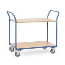 Tafelwagen 200 kg.  850x500 mm. 2 etages