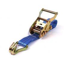 Rateldeel spanband 35 mm 3T standaardratel + spitshaak - Blauw