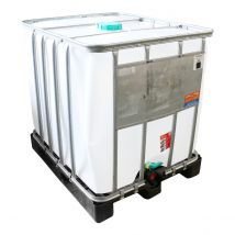 IBC Container A-keus Gereinigd 1.000 liter - Kunststof Onderstel