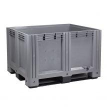 Kunststof Palletbox Grijs E-line 1200 x 1000 x 760 mm 610 liter
