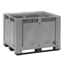 Kunststof Palletbox Grijs 1200 x 1000 x 870 mm 3 sleden - 760 liter