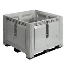 Kunststof Palletbox Grijs 1200 x 1200 x 870 mm 3 sleden - 900 liter