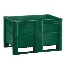 Kunststof Palletbox Groen 1200 x 800 x 760 mm 2 sleden - 520 liter