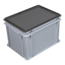 E-line Kunststof koffer Grijs 400 x 300 x 295 mm, 25 liter met greep