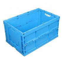 Vouwkrat Blauw 600 x 400 x 320 mm 66 liter met 2 open handgrepen