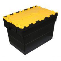 Distributiebak zwart/geel 600 x 400 x 320 mm