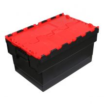 Distributiebak zwart/rood 600 x 400 x 365 mm