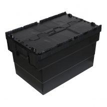 Distributiebak zwart 600 x 400 x 320 mm