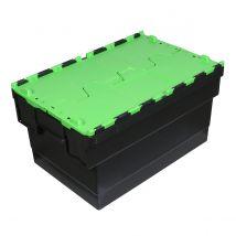 Distributiebak zwart/groen 600 x 400 x 416 mm