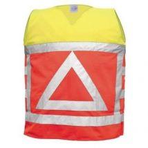 Verkeersregelaarsvest M-Wear 0125 oranje-geel met reflectiedriehoek maat L