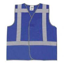 Veiligheidsvest M-Wear 0174 Blauw met RWS-strepen maat M/L
