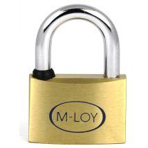 M-LOY AN30 Verschillendsluitend Hangslot Messing 30MM VS30