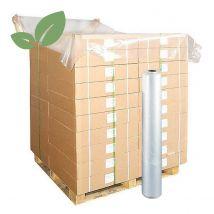 Topvellen Transparant LDPE Recycled 120x140 cm dikte 40my - 300 vel op rol
