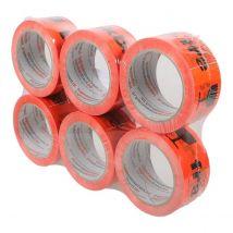 Breekbaar tape oranje zwart, meest verkocht