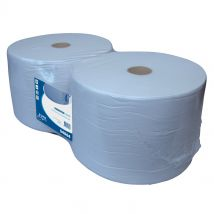 Euro Industrierol recycled blauw 23 cm x 1000 meter 1-laags (2 rol)
