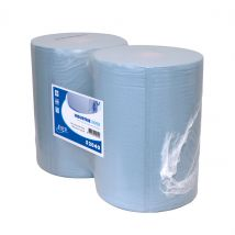 Euro Industrierol recycled blauw sterk 370 mm x 400 m