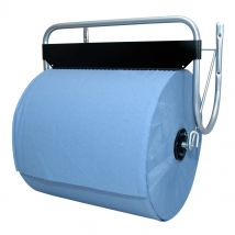 Muurstandaard industrierol met blauw papier
