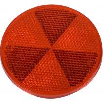 Plakreflector rood rond Ø 60 mm