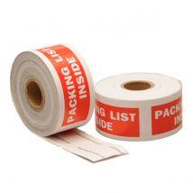 Etiket Packing List Inside 101.6 x 38.1 mm - 300 etiket/rol