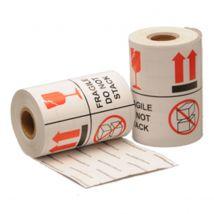 Fragile / Do Not Stack Etiketten 101.6 x 101.6 mm Rol 1000 stuks