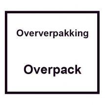 Etiket Oververpakking-Overpack 1.000 etiket 100 x 100 mm per rol
