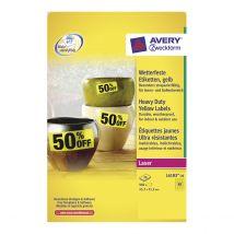 Avery Etiket Heavy Duty Watervast 48/vel 45,7 x 21,2 mm Geel - 20 vel