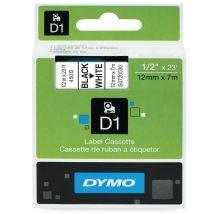 Dymo D1 tape - 12 mm x 7 m - zwart op wit