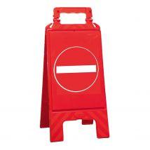 Waarschuwingsbord rood verboden