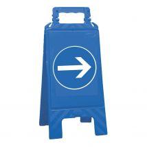 Waarschuwingsbord blauw verplicht te volgen
