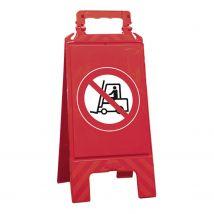 Waarschuwingsbord rood verboden voor transportvoertuigen