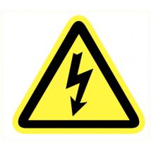 Elektriciteits spanning vinyl sticker 200 mm