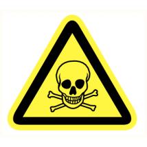 Giftige stoffen kunststof plaat 200 mm