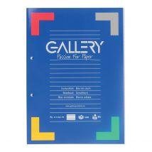 Cursusblok Gallery A4 gelinieerd 100 vel 80 grams - lijntjes