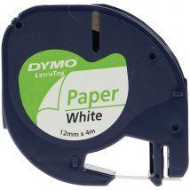 Dymo LetraTag tape - 12 mm - Papier wit