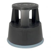 Rolkruk Zwart met 3 zwenkwieltjes