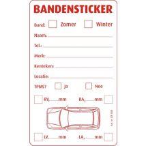 Bandenlabels bedrukt 75 x 125 mm - 500 label/rol