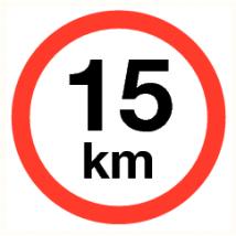 Maximale snelheid 15 km - kunststof plaat 400 mm
