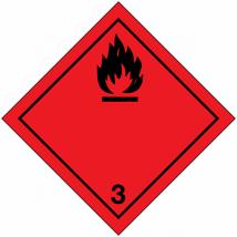 Gevaarsetiket klasse 3.0 zelflevend polyethyleen op rol - 1000 stuks
