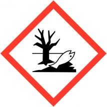 Gevaarsetiket GHS Environmental Danger 10 x 10 mm zelfklevend papier op rol - 1000 stuks