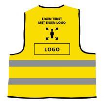 Veiligheidshesje Geel Universeel - Eigen Tekst en Logo
