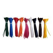 Kabelbinders gekleurd 200 x 4,8 mm - 9 x 50 stuks