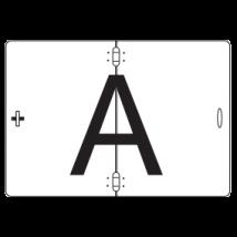 A bord wit 400 x 300 mm verticaal klapbaar
