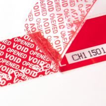Veiligheidslabel 48 x 150 mm Total Transfer rood - 333 label per rol