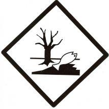 Milieugevaarlijke stoffen 100 x 100 mm zelfklevend PE op rol - 1000 stuks
