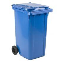 Afvalcontainer 240 liter blauw - voor DIN-opname